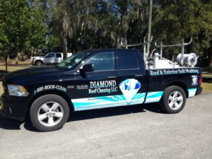 Diamond roof cleaning soft wash wash system and awesome cleaning truck.