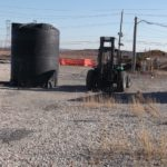 Tank And Forklift for Solar Array Panel